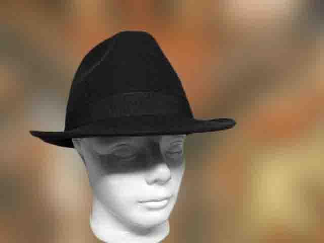 491d034810 Hagyományos, Férfi kalap, 100% gyapjú fekete - Férfi kalap női kalap ...