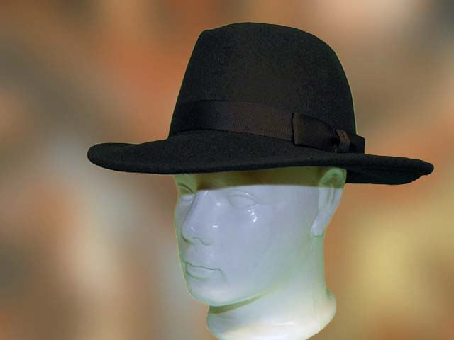 ac1c5cd1ba Fekete, férfi kalap, 100% tiszta gyapjú, nagyobb karimás.