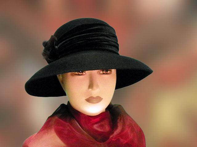 Női kalap · Fekete női kalap 504af01a48