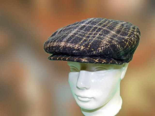 Férfi sapka barna kockás - Férfi kalap női kalap sapka b2da460747
