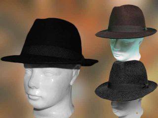 Férfi kalap kis karimás