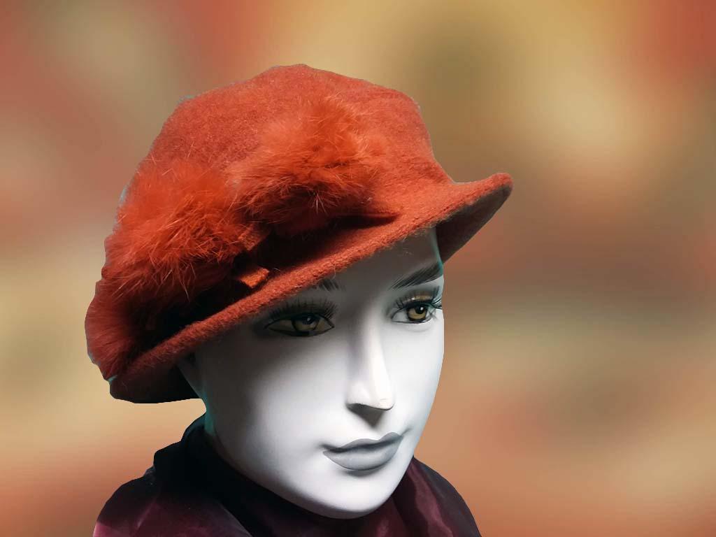 Női sapka koráll színű - Férfi kalap női kalap sapka d8fe604e0c