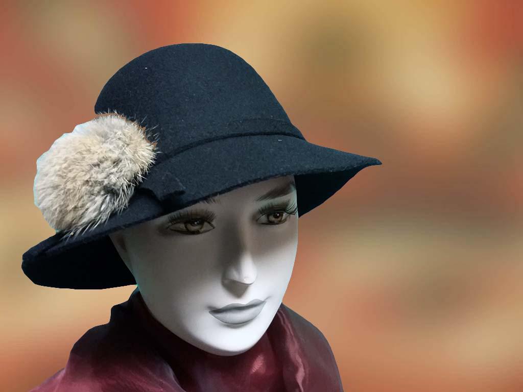 noi kalap fekete divatos