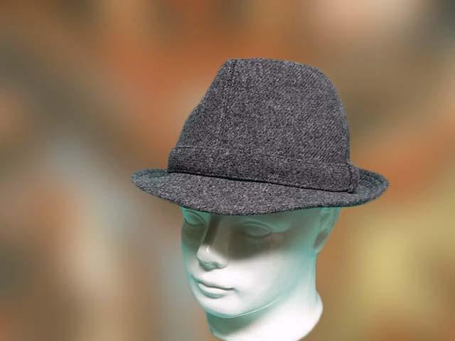 szürke szövet férfi kalap
